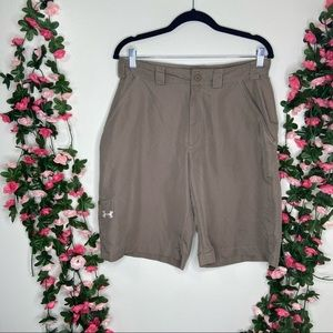 🌹Under Armour Tan Khaki Golf Shorts Mens 30